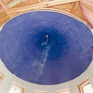 The turret ceiling, nearing completion