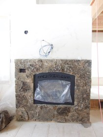 The fireplace stone is gorgeous!