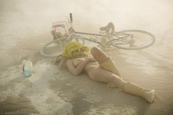 Relaxing at Burning Man.