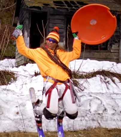 Shane McConkey, aka Saucer Boy, doing what he does best: having fun