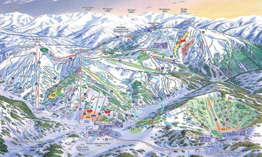 Perisher ski resort trail map