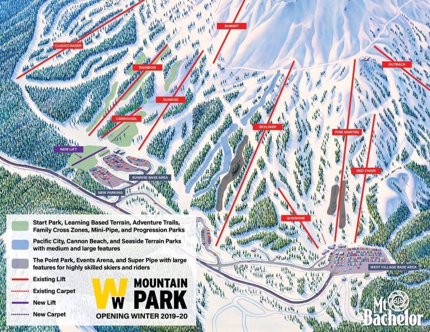 bachelor, oregon, mt bachelor, Woodward mountain park
