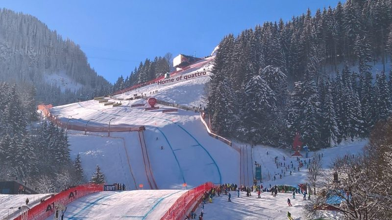 Austria Kitzbuhel, the Streif, dangerous