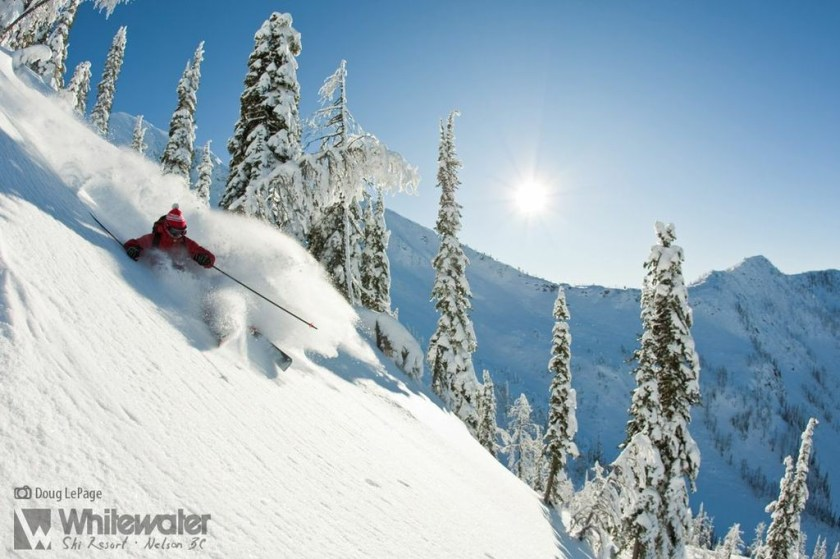 Whitewater has awesome powder skiing.