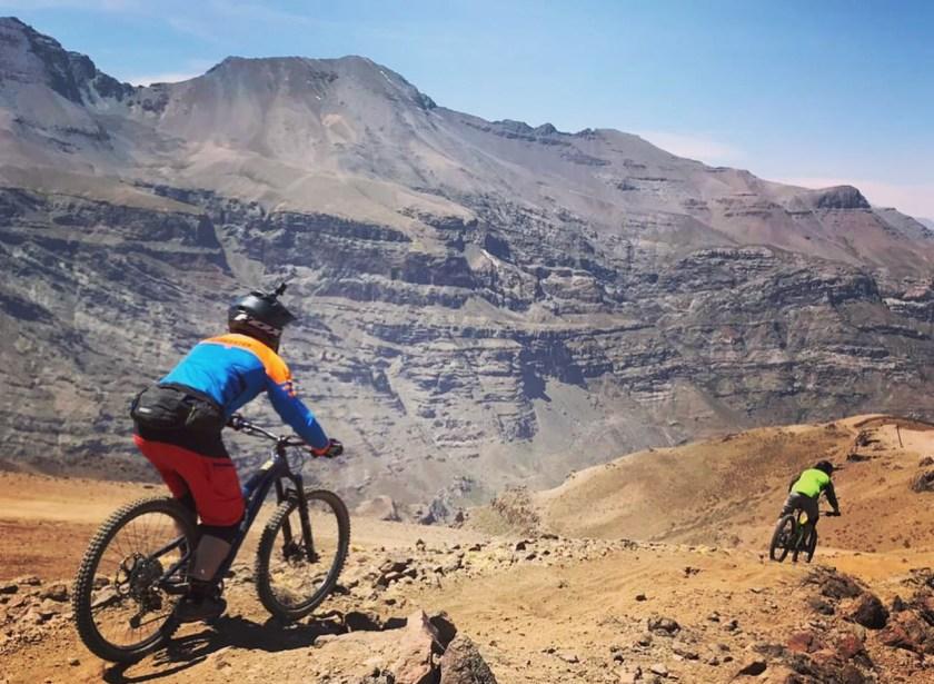 valle bike snow mountain chile