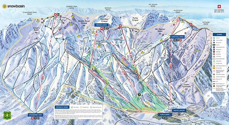 ski trail map of snowbasin