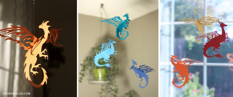 DIY Hanging Dragons