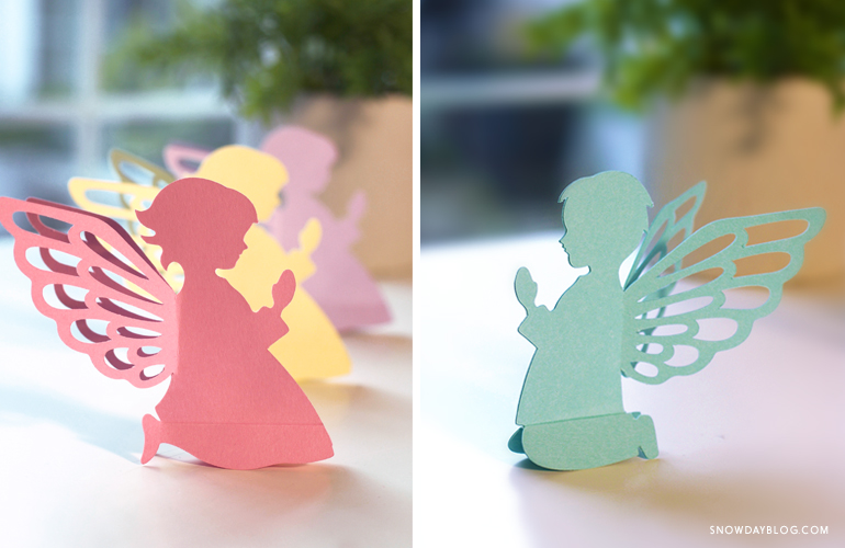 DIY Easter Craft Baby Angels