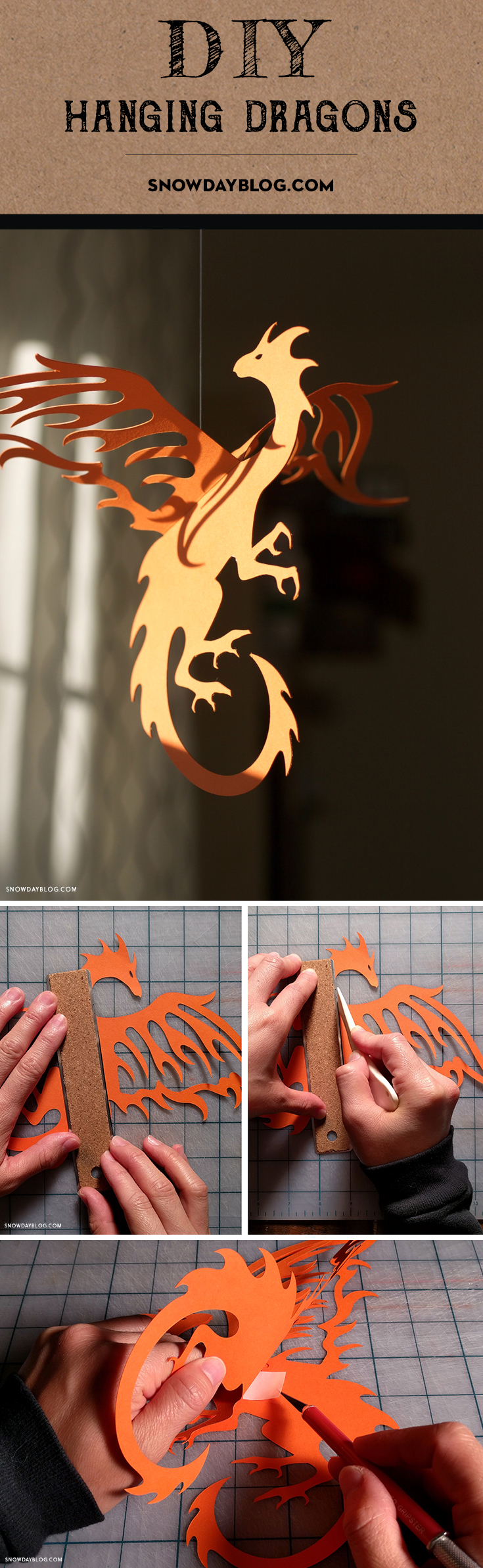 Hanging Dragons Pinterest Orange