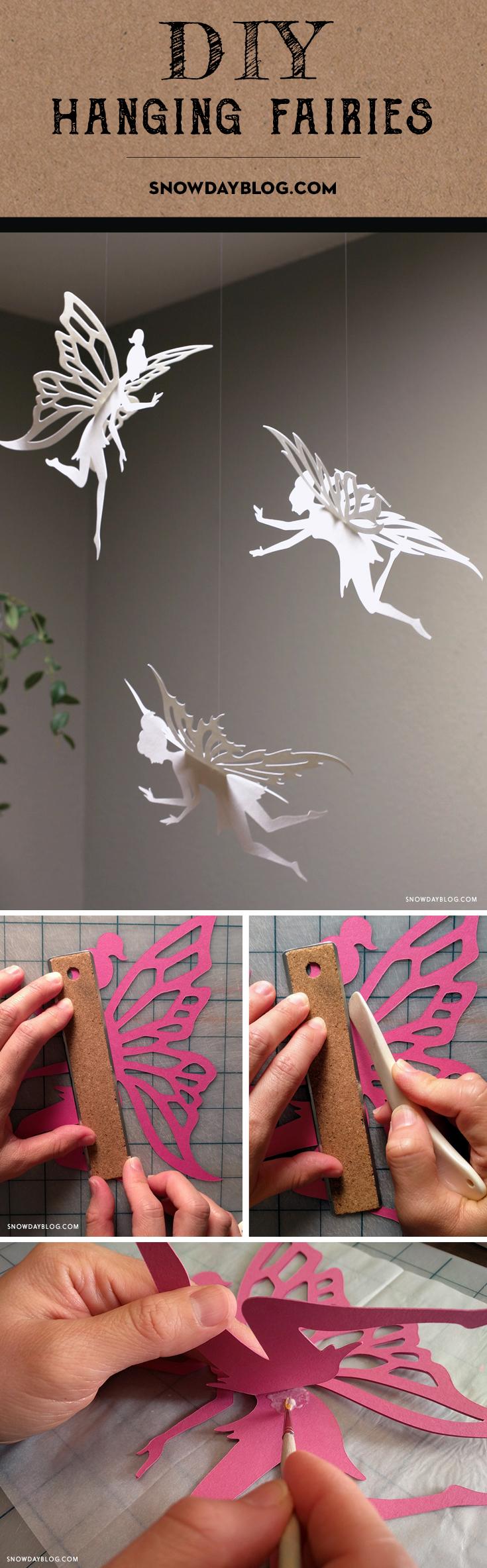 Hanging Fairies Pinterest White