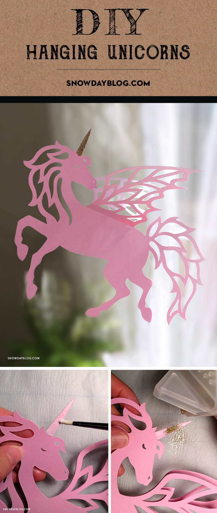 Hanging Unicorns Pinterest Pink