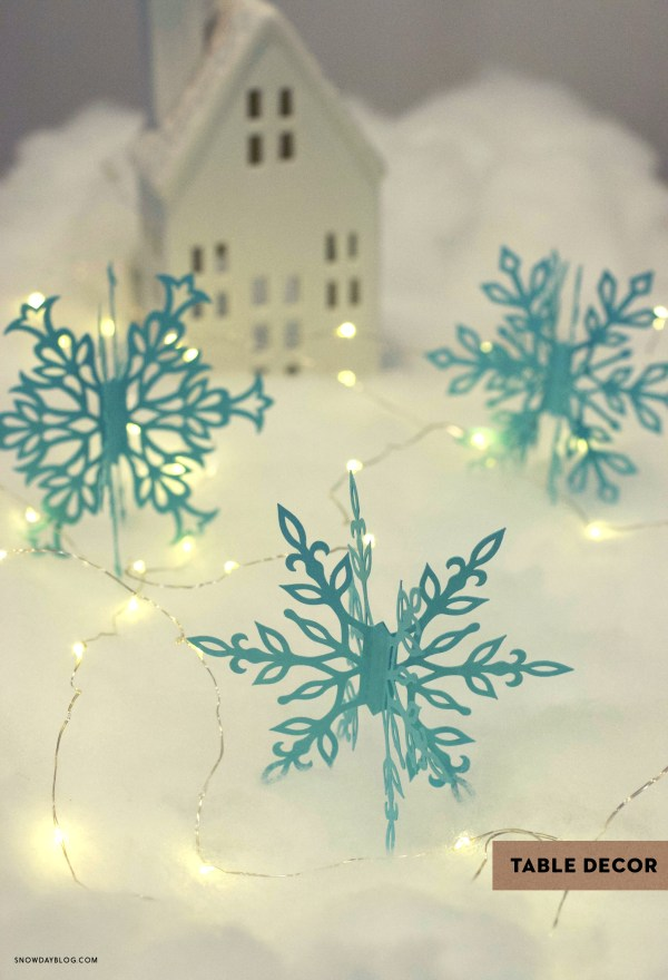 DIY 3D Snowflakes