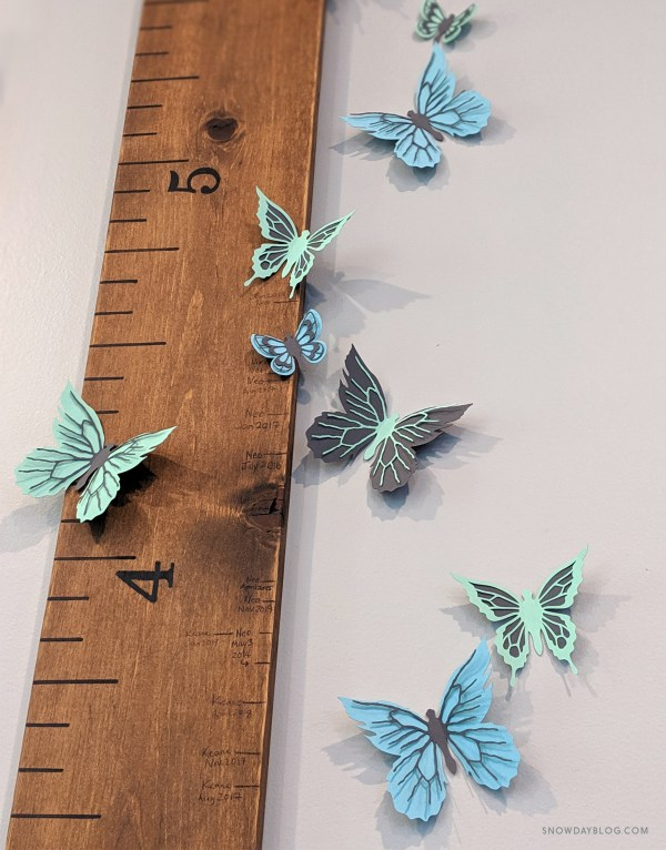 Butterfly Stickers Blue Set