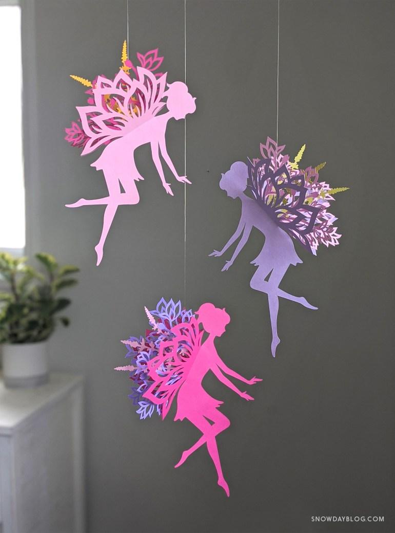 DIY Flower Garden Fairy Pinks and Purple