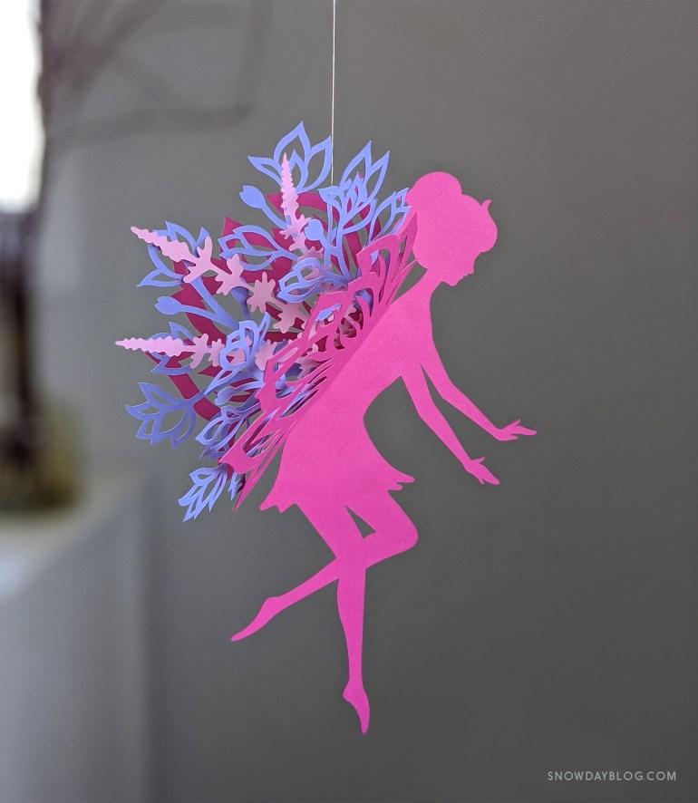 DIY Flower Garden Fairy Magenta and Purple