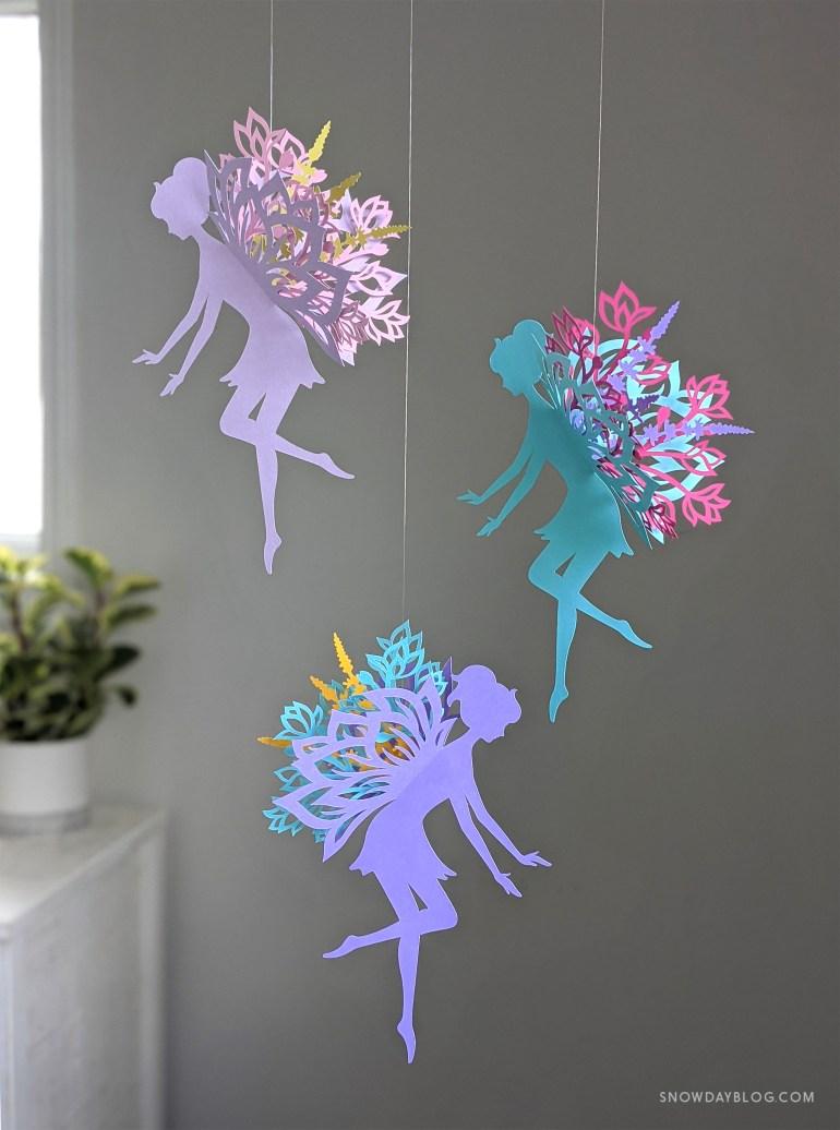 Flower Garden Fairy Purples and Aqua