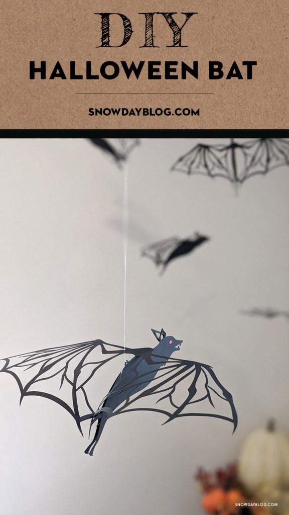 DIY Halloween bat