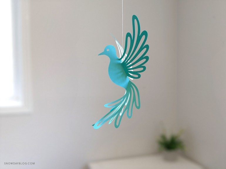 aqua dove, hanging dove, dove svg,