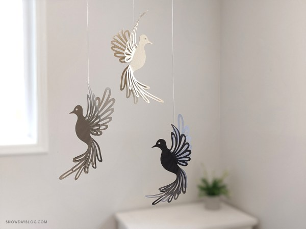 Dove, dove SVG, dove craft, hanging doves, dove decoration