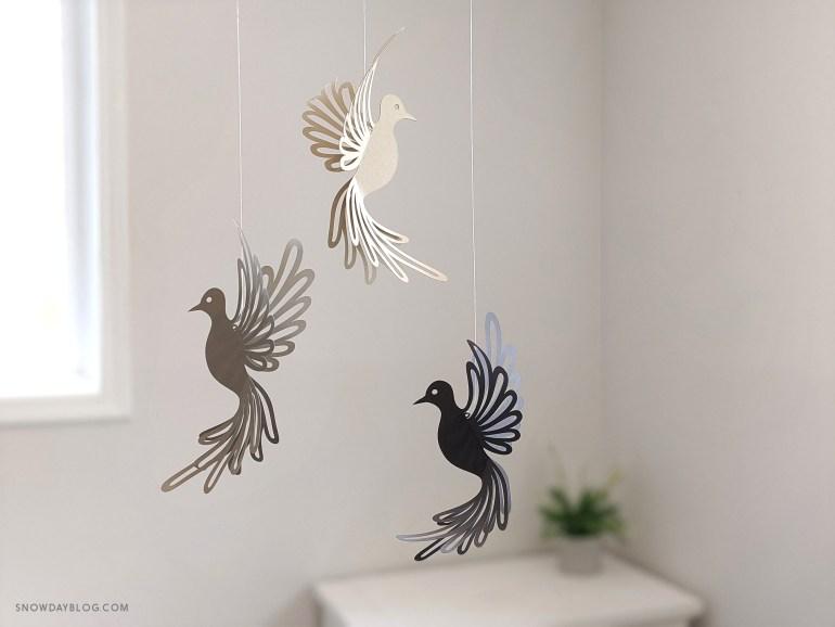 Dove, dove SVG, dove craft, hanging doves, dove decoration