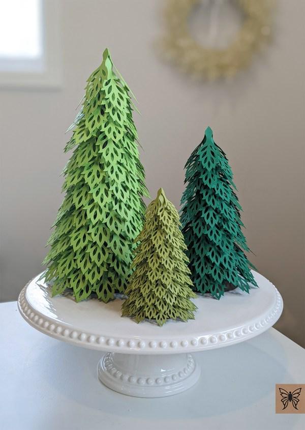 Woodland Christmas Trees 3 Green trees