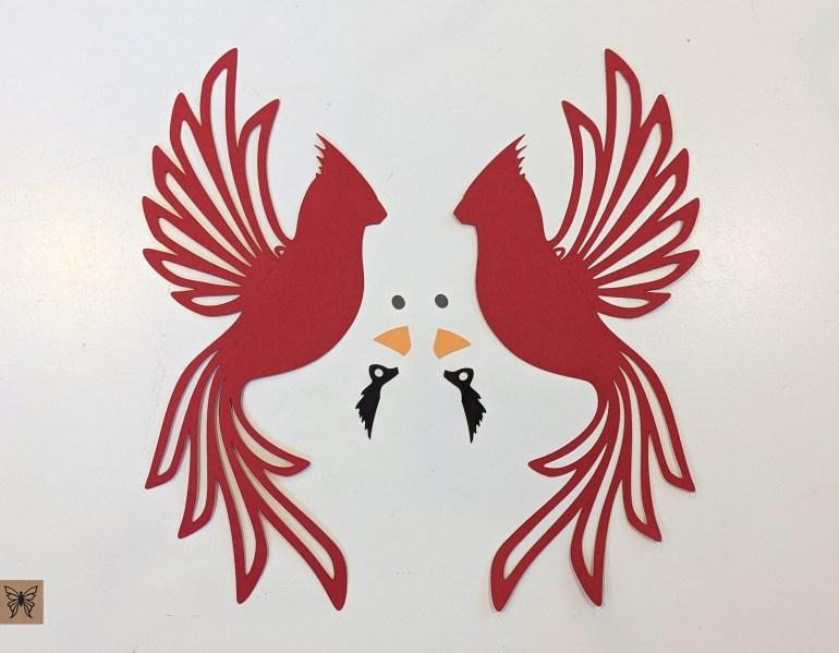DIY Cardinal cutouts