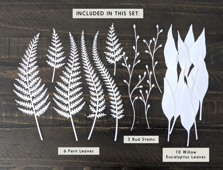 Fern leaves SVG, leaf svg, cut leaves, leaf templates