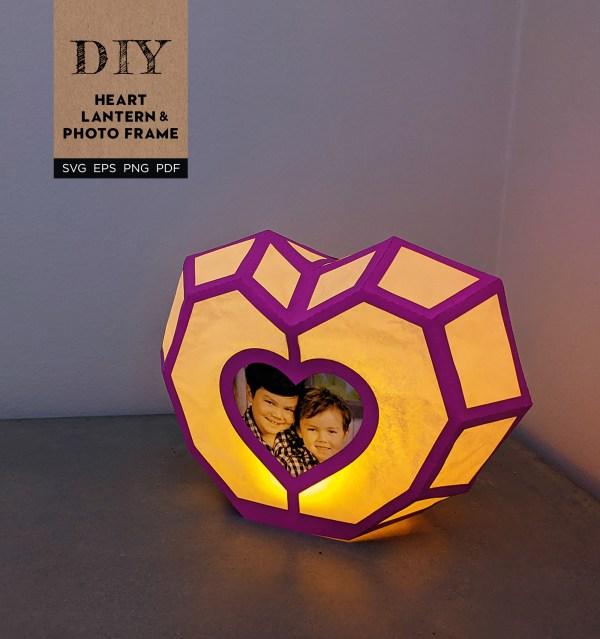 DIY Heart Lantern & Photo Frame