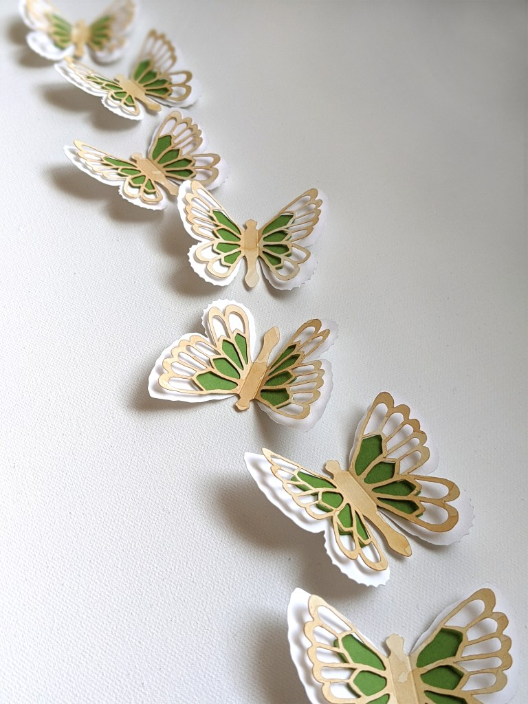 Green Abigail butterfly stickers
