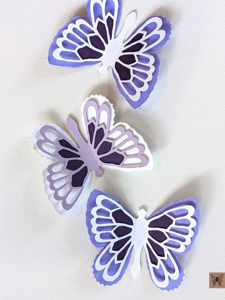 Abigail butterfly stickers in purple