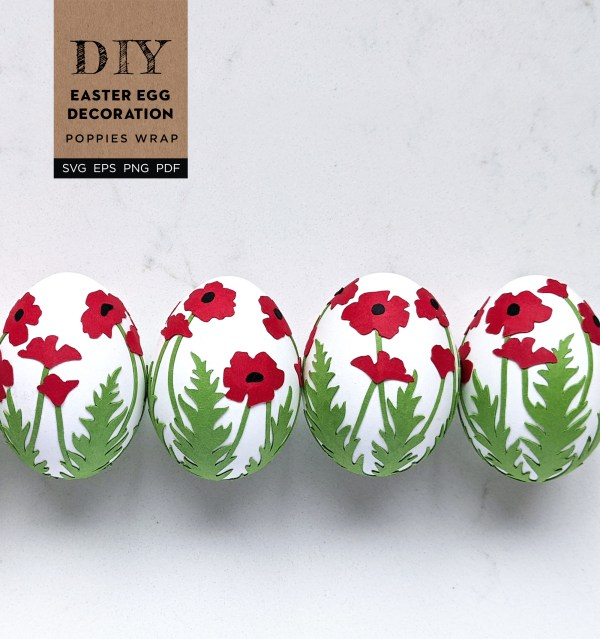 Easter Egg Poppy Wrap, Easter Egg decorating