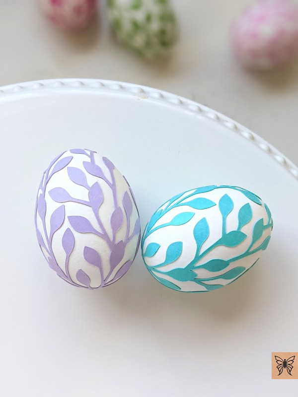 Easter Eggs lavender and aqua