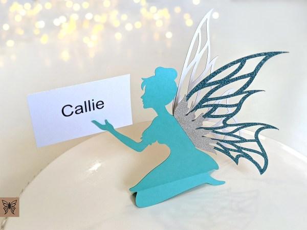 Aqua Place Card Fairy