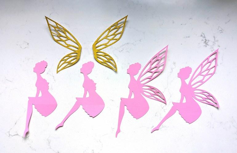 fairy cutouts SVG, fairy wings