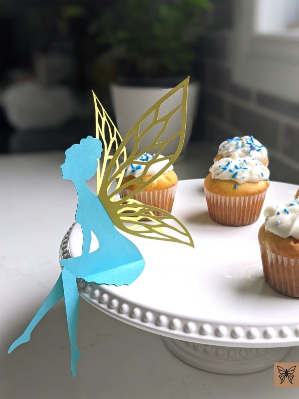 Aqua Table Top Fairy at dessert party table