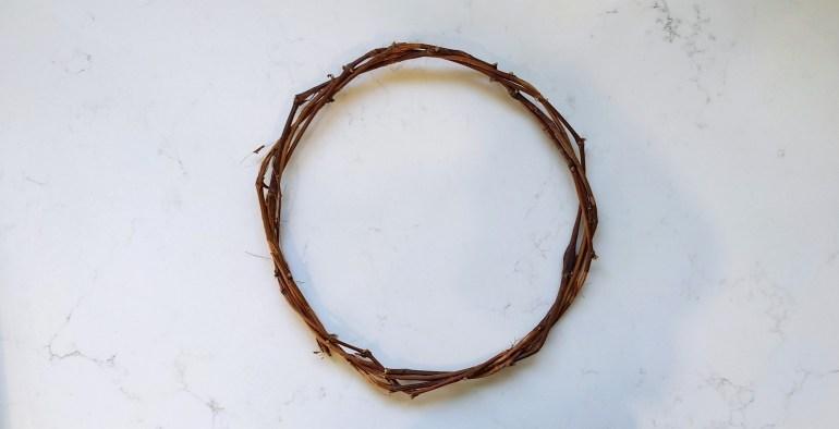 Grapevine natural wreath hoop