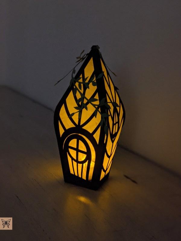 Brown fairy house lantern