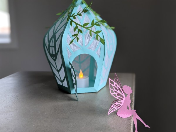 fairy house svg with table top fairy, fairy party decoration