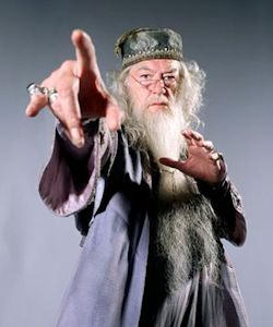 Headmaster Dumbledore's hand is cursed by Voldemort in Harry Potter and the Half Blood Prince.