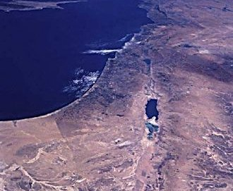 Israel from Space. NASA photo.