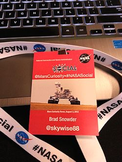 NASA JPL security badge. Photo by Brad Snowder