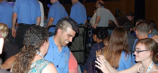 Bobak and the Tweeps. Photo by Brad Snowder.