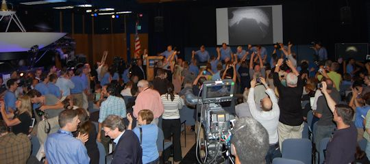 March of the Blue Shirts. Photo by Brad Snowder.
