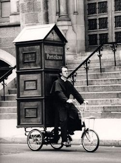Port-o-Fess, for the priest on the go.