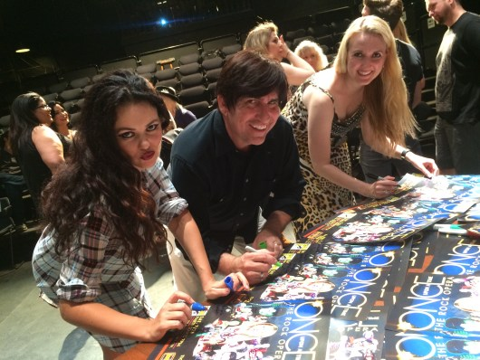 Snowflakes signing autographs with the cast after the show