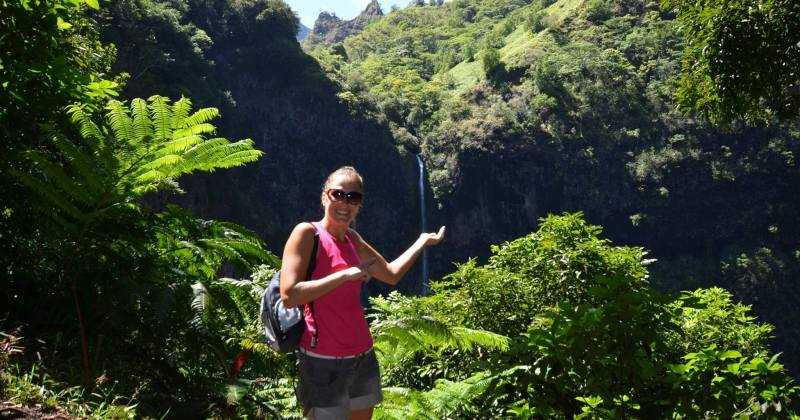 Une Snowflike Girl en rando à Tahiti!