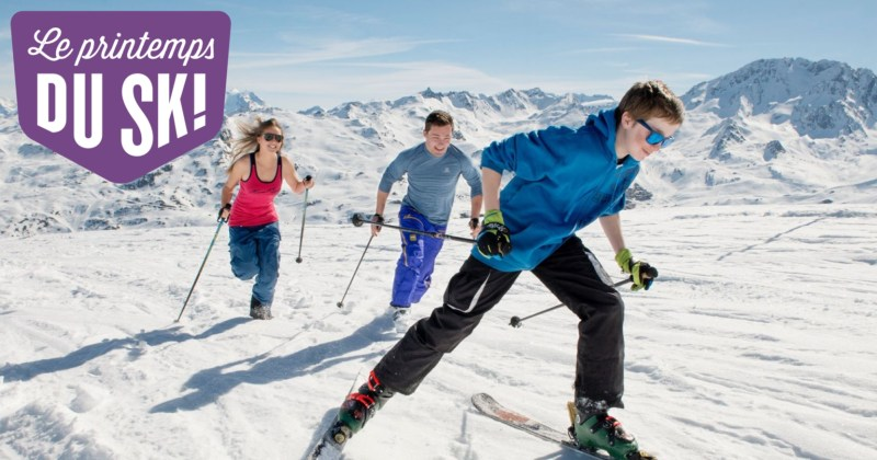 Les bons plans du printemps du ski 2017