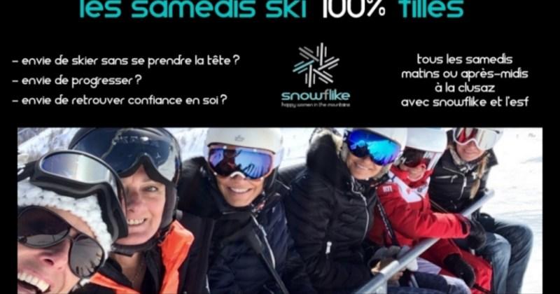 Les samedis skis 100% filles avec snowflike
