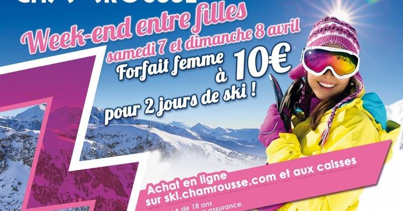 Chamrousse gâte les femmes les 7 et 8 avril prochains
