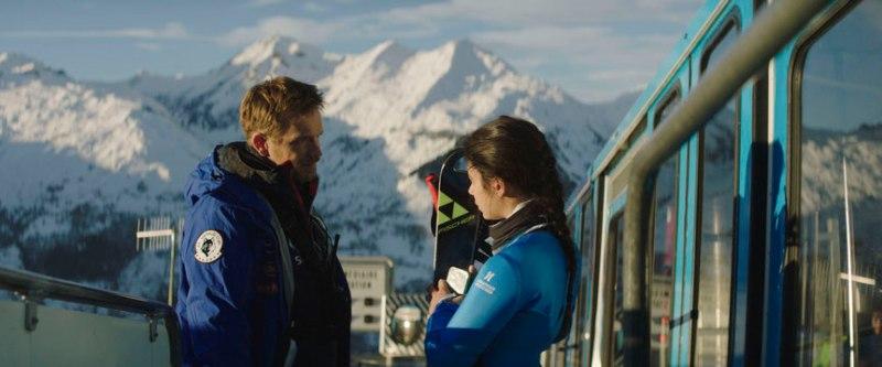Slalom : Noée Abita et Jérémie Renier en action.